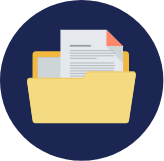 icon of folder with files